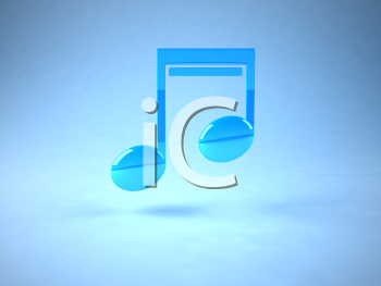 Royalty Free 3d Clipart Image of a Music Note