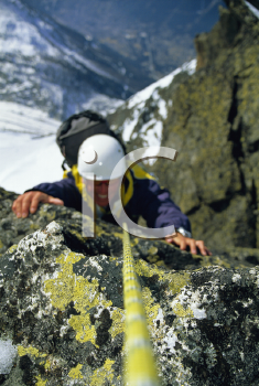 Royalty Free Photo of a Smiling Mountain Climber