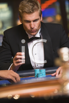 Royalty Free Photo of a Man in a Casino