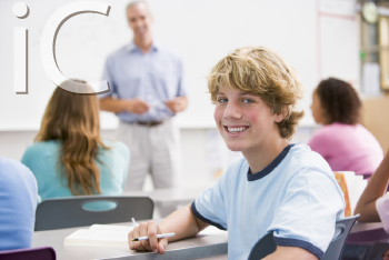 Royalty Free Photo of a Student in Class