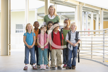 Royalty Free Photo of a Teacher With Her Students