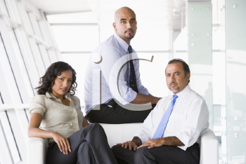 Royalty Free Photo of a Business Team of Three