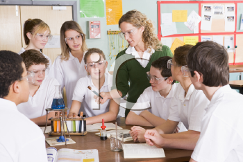 Royalty Free Photo of a Chemistry Class