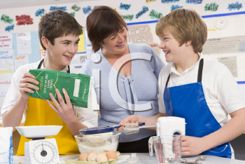 Royalty Free Photo of a Home Ec Class