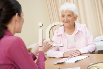 Royalty Free Photo of a Woman in a Doctor's Office