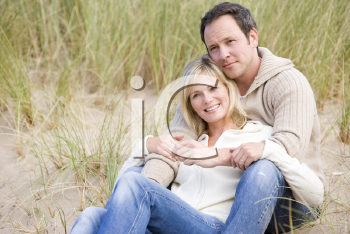 Royalty Free Photo of a Couple at the Beach