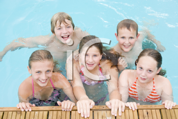Royalty Free Photo of Friends at a Pool