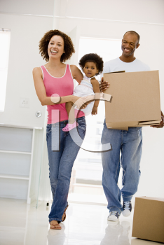 Royalty Free Photo of a Family Moving In
