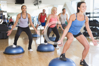 Royalty Free Clipart Image of an Exercise Class
