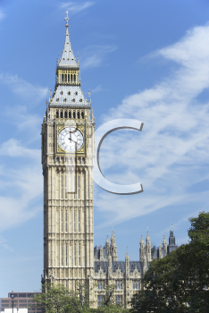 Royalty Free Photo of Big Ben and the Houses Of Parliament, London, England