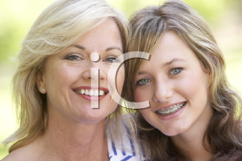 Royalty Free Photo of a Mother and Daughter