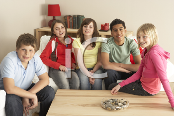Royalty Free Photo of a Group of Kids at Home