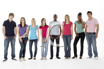 Royalty Free Photo of a Group of Teens