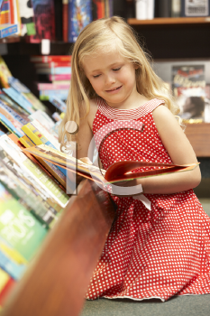 Royalty Free Photo of a Child in a Bookshop