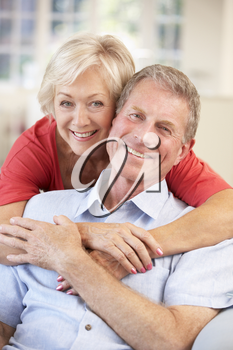 Retired couple at home