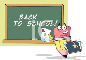 Royalty Free Clipart Image of a Back to School Pencil