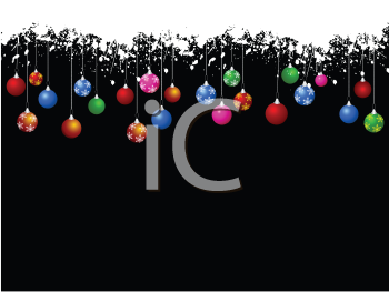 Christmas baubles on decorative background