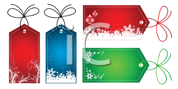 Labels with Christmas designs