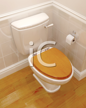 3d render of a classic toilet