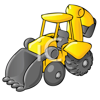 Royalty Free Clipart Image of a Backhoe