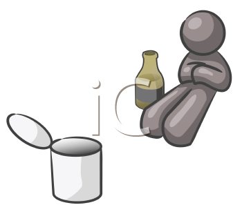Royalty Free Clipart Image of a Homeless Person