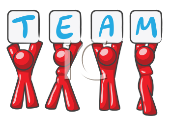 Royalty Free Clipart Image of a Team