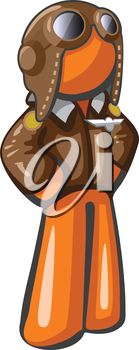 Royalty Free Clipart Image of an Aviator