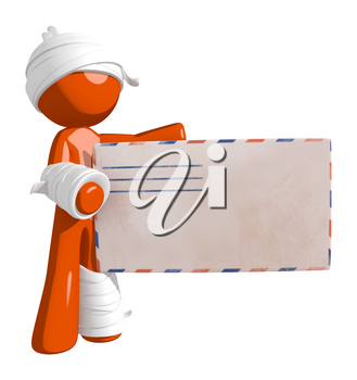 Personal Injury Victim with an Envelope Containing Claim