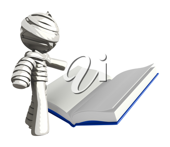Mummy or Personal Injury Concept Reading Large Book