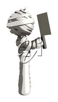 Mummy or Personal Injury Concept Solute With Cleaver