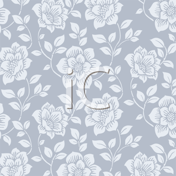 Royalty Free Clipart of a Rose Pattern