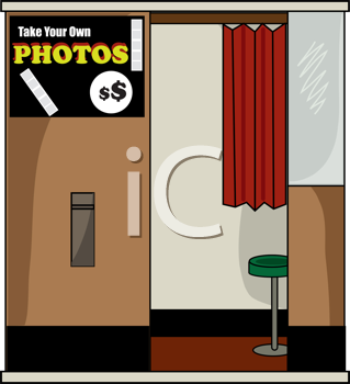 Royalty Free Clipart Image of a Photo Booth