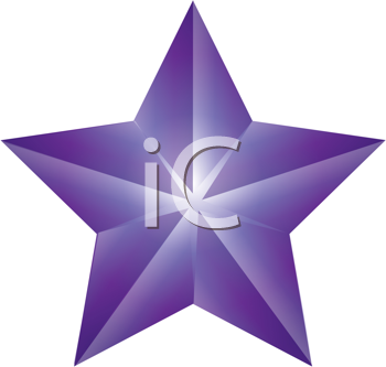 Royalty Free Clipart Image of a Star