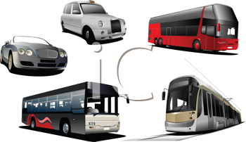 Royalty Free Clipart Image of City Transportation