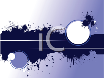 Royalty Free Clipart Image of a Grungy Background With Blobs and Circles