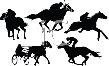 Royalty Free Clipart Image of Horse Racing