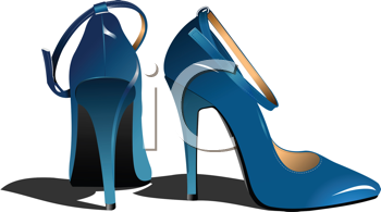 Royalty Free Clipart Image of a Pair of Women's High Heels