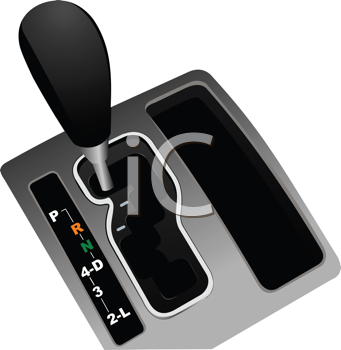 Royalty Free Clipart Image of a Gearshift