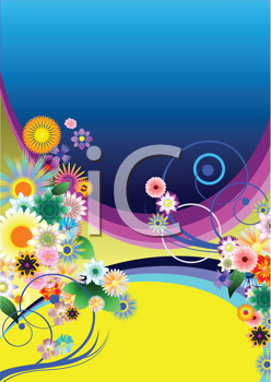 Abstract floral background, element for design. Can be used as greeting card for birth day, wedding or Christmas