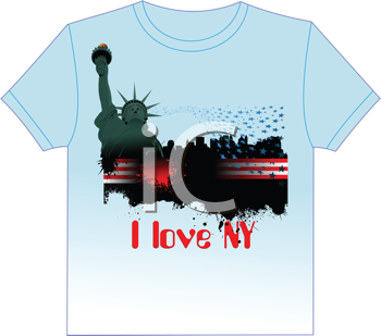 Trendy T-Shirt design with New York image. Vector illustration