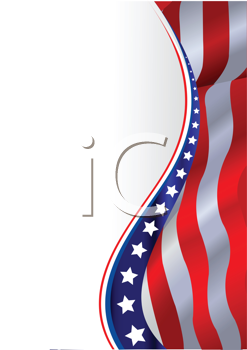 Royalty Free Clipart Image of an American Flag Border