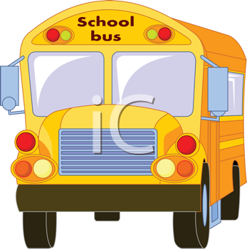 Royalty Free Clipart Image of a Yellow School Bus