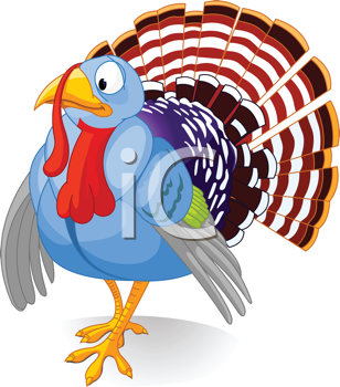 Royalty Free Clipart Image of a Turkey