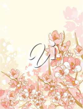 Spring flowers design with place for text