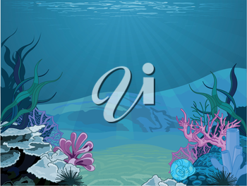Royalty Free Clipart Image of an Underwater Scene