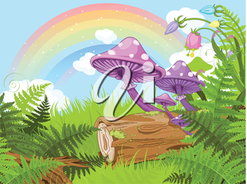 Royalty Free Clipart Image of a Fantasy Background