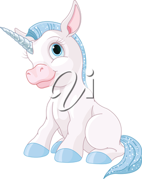 Illustration of cute magic unicorn