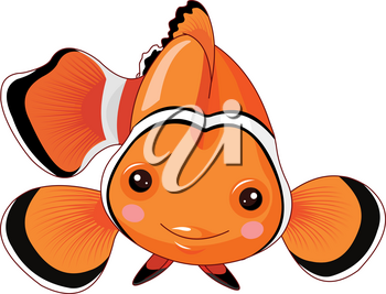 Illustration of cute clown fish