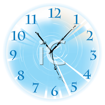 Royalty Free Clipart Image of a Clock Face on a White Background