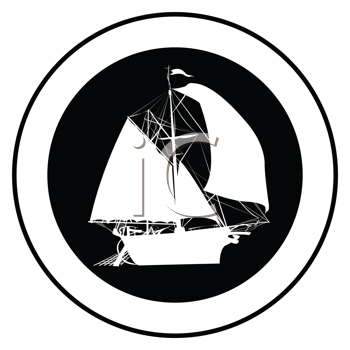 Royalty Free Clipart Image of an Old Ship